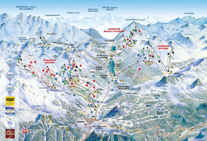 Skigebiet nauders inkl reschenpass webcam